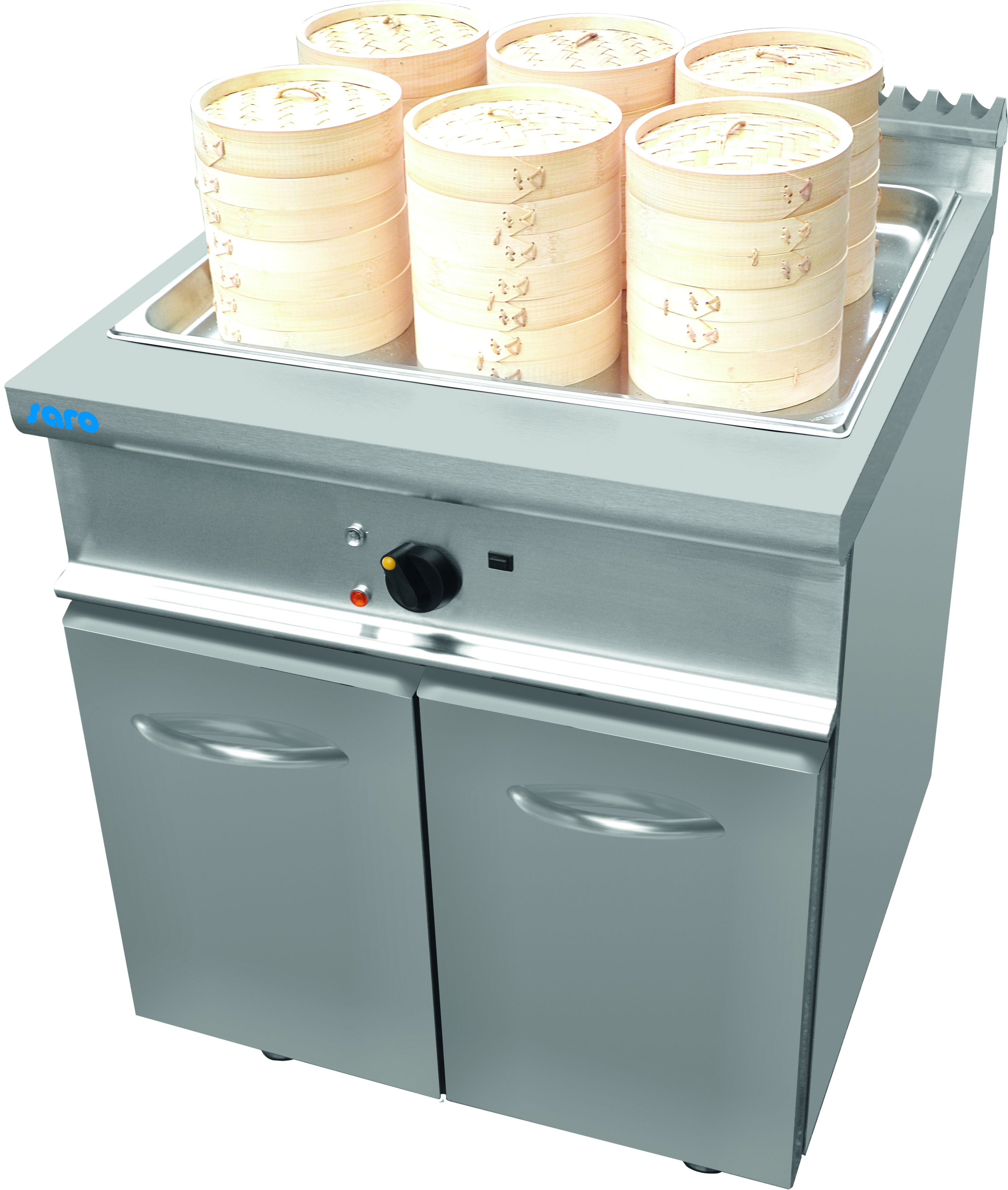 Dim Sum Steamer with cabinet Model L7/DSE400BC | Saro